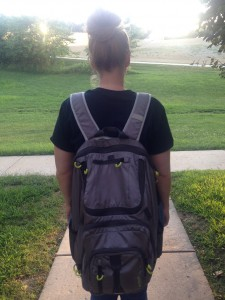 wrong way to wear a backpack low