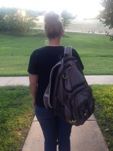 WRong way to wear a backpack on one shoulder