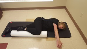 Closed Book exercise for thoracic rotation